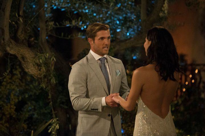 "Jordan Kimballwith ""Bachelorette""Becca Kufrin on the first episode of the new season."