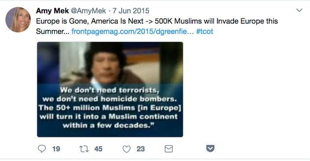 1ed50867 Trump's Loudest Anti-Muslim Twitter Troll Is A Shady Vegan Married ...