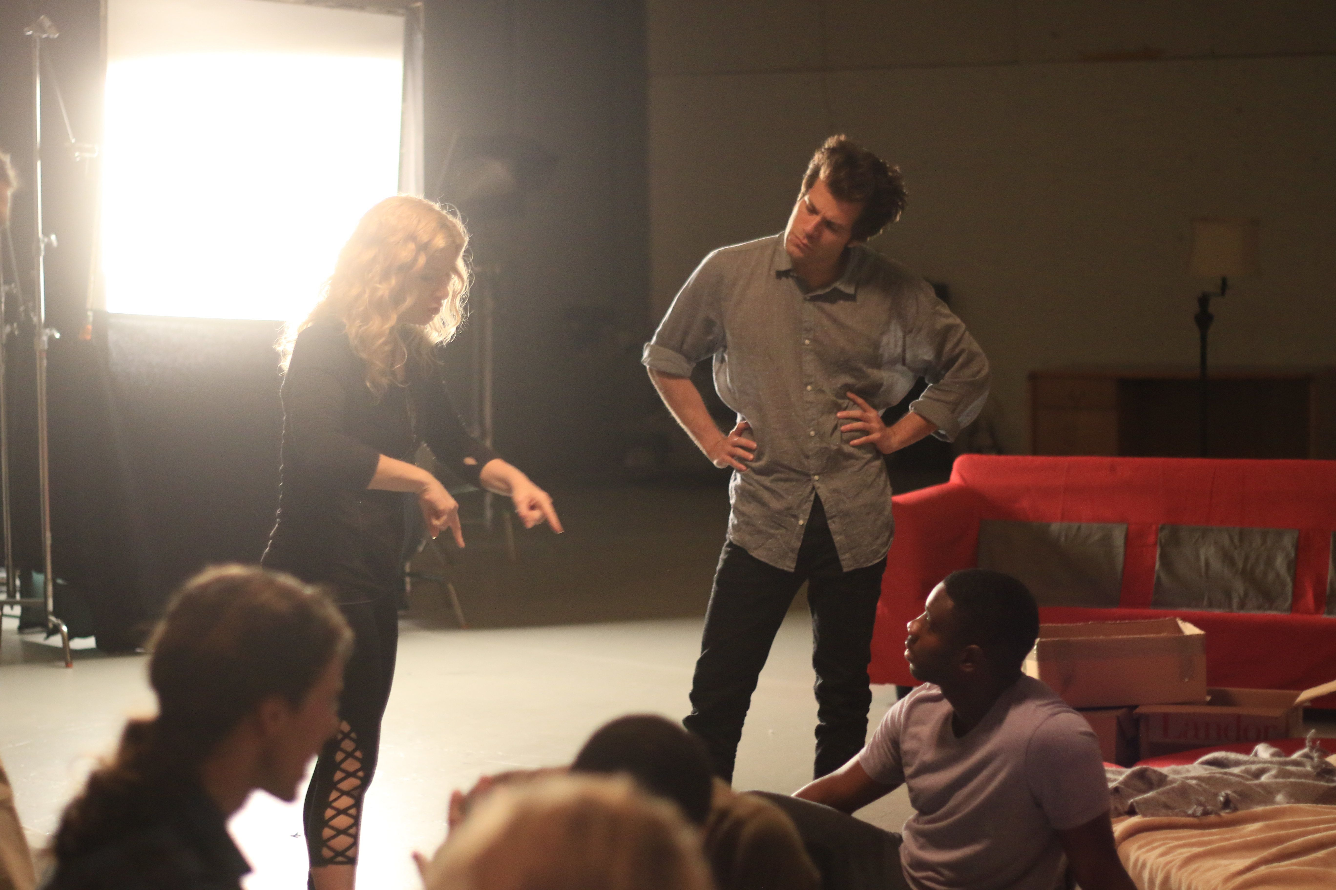 Directing sex scene on stage