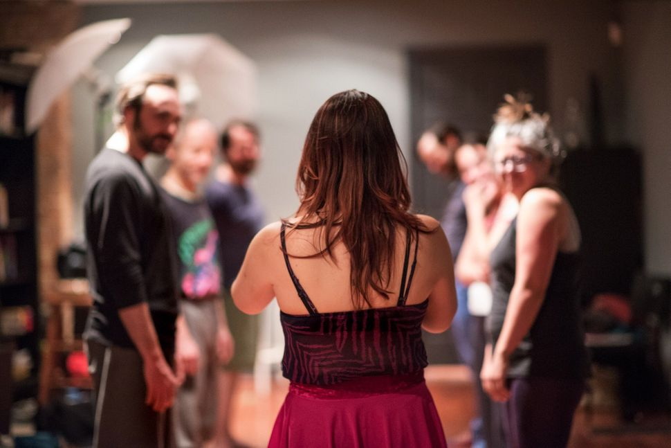 Intimacy director Tonia Sina helps actors prepare for moments involving  physical touch in a production.