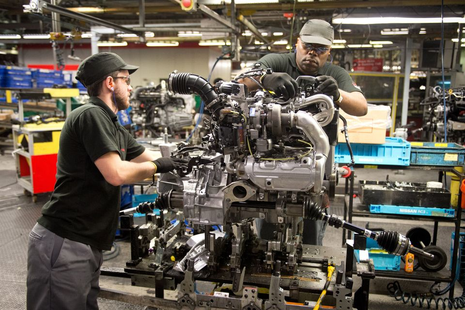 Workers at the Sunderland Nissan