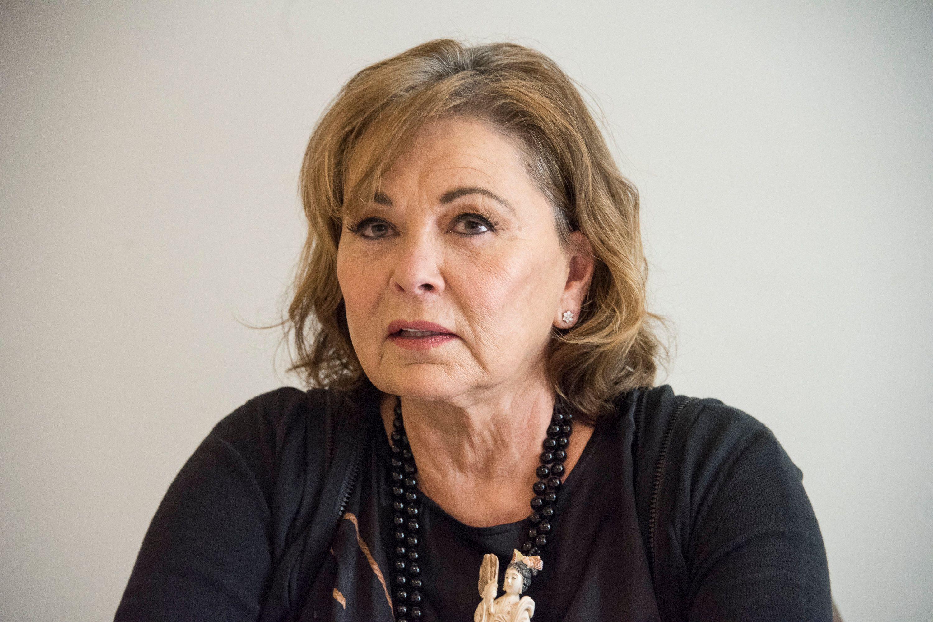 BEVERLY HILLS, CA - MARCH 23:  Roseanne Barr at the 'Roseanne' Press Conference at the Four Seasons Hotel on March 23, 2018 in Beverly Hills, California.  (Photo by Vera Anderson/WireImage)