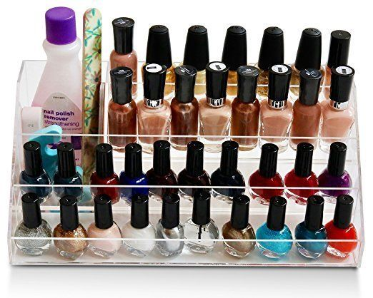 You don't realize how much nail polish you have until you store it all. Make sure your favorite colors are easily withi
