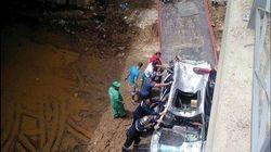 Chute d'une voiture dans les eaux de Oued El Harrach à