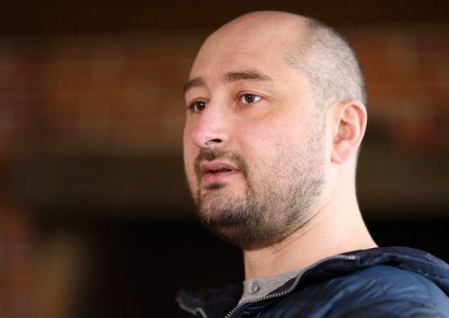 Russian journalist Arkady Babchenko at an interview in Kiev in November