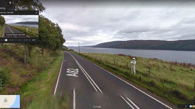 구글 스트리트 뷰에 포착된 기이한 풍경들