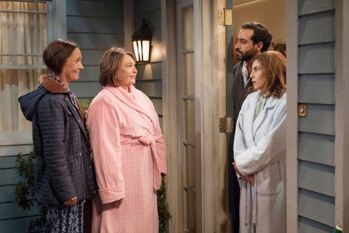 On Episode 7, Roseanne and her sister, Jackie, react to Muslim neighbors moving in.