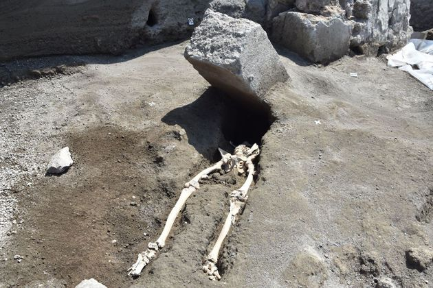 A skeleton of a victim recently found the archaeological site of