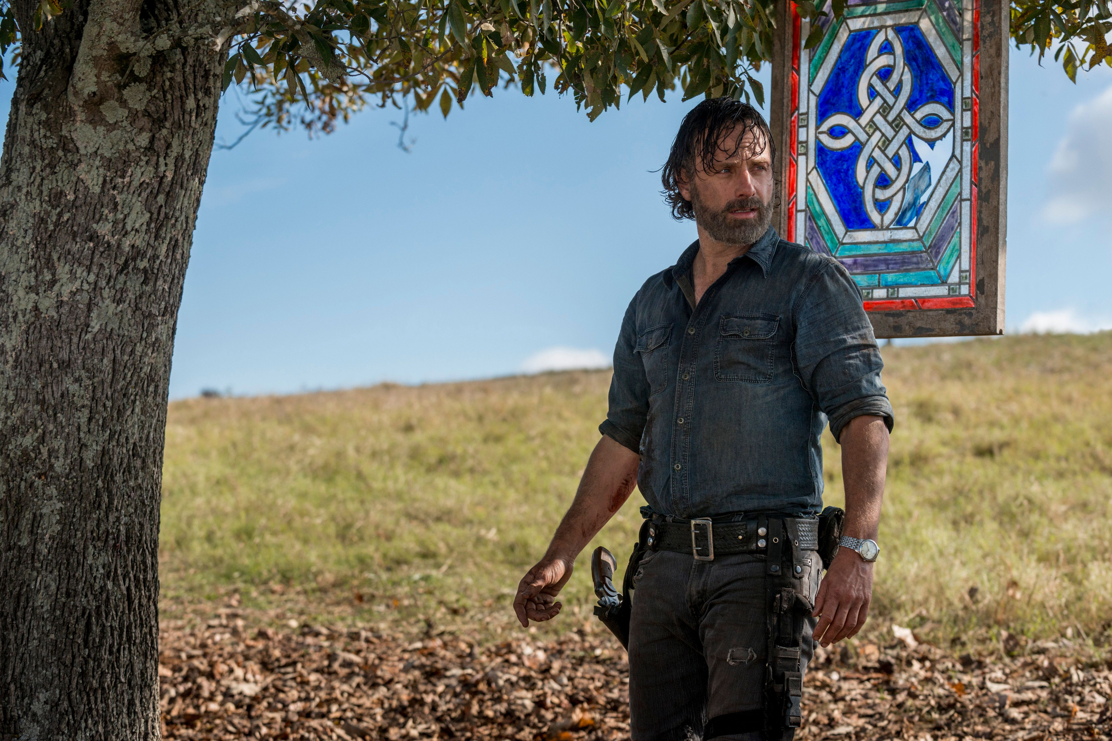 Andrew Lincoln as Rick Grimes- The Walking Dead _ Season 8, Episode 16 - Photo Credit: Gene Page/AMC