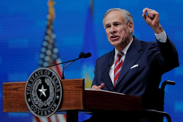 Texas Gov. Greg Abbott (R) speaks at the annual National Rifle Association convention in Dallas on May