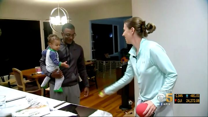 Lindsay Gottlieb is seen playing with her 1-year-old son,Jordan.
