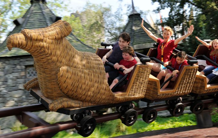 Unless you're traveling with small children, this family-friendly roller coaster might not be worth the wait.