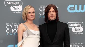 23rd Critics' Choice Awards – Arrivals – Santa Monica, California, U.S.,11/01/2018– Diane Kruger and Norman Reedus. REUTERS/Monica Almeida