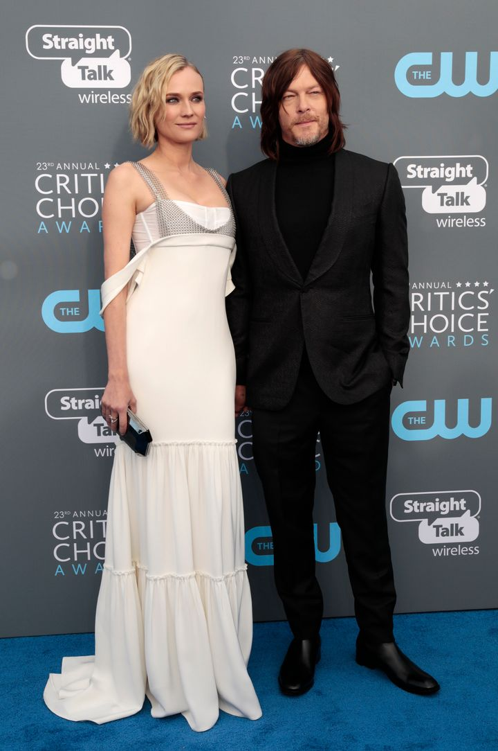 Kruger and Reedus at the 2018 Critics' Choice Awards in January in Santa Monica, California.
