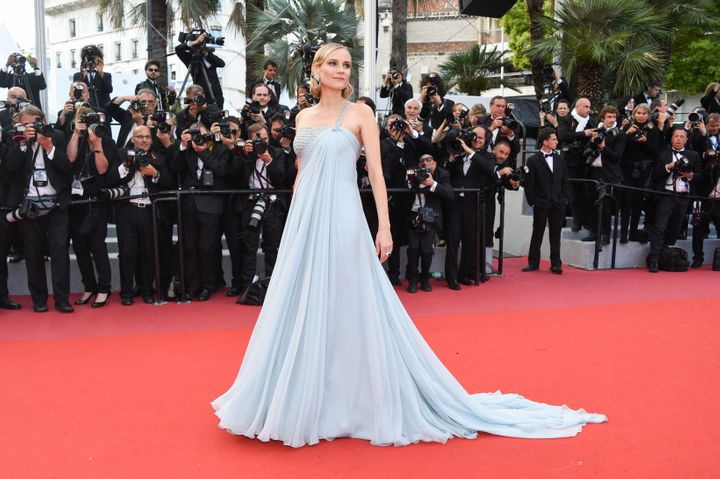 Kruger wears a flowing gown at an event during the Cannes Film Festival earlier this month.