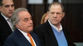NEW YORK, NY - MAY 25: Harvey Weinstein along with his attorney Benjamin Brafman (L) appears at his arraignment in Manhattan Criminal Court on Friday, May 25, 2018. The former movie producer faces charges in connection with accusations made by aspiring actress Lucia Evans who has said that Weinstein forced her to perform oral sex on him in his Manhattan office in 2004. Weinstein (66) has been accused by dozens of other women of forcing them into sexual acts using both pressure and threats. The revelations of the his behavior helped to spawn the global #MeToo movement. (Photo by Steven Hirsch-Pool via Getty Images)