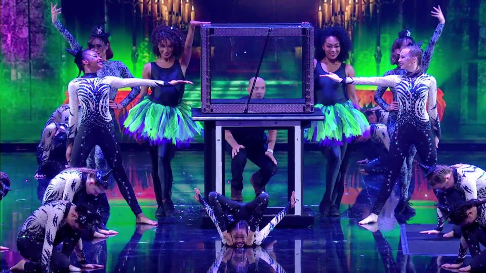 Did You Spot The Horrified 'BGT' Crew Member On Stage During Acrocadabra's Semi-Final