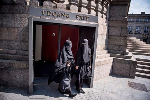 Nikab-tragende Frauen kommen aus dem dänischen