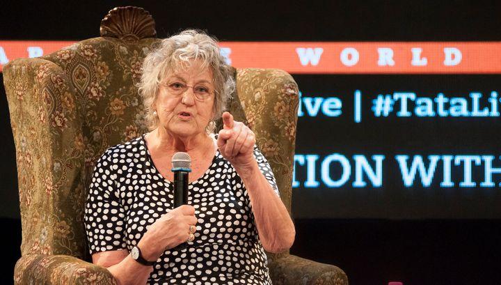 Germaine Greer speaks at the Tata Literature Live Festival on Oct. 29, 2015, in Mumbai, India.