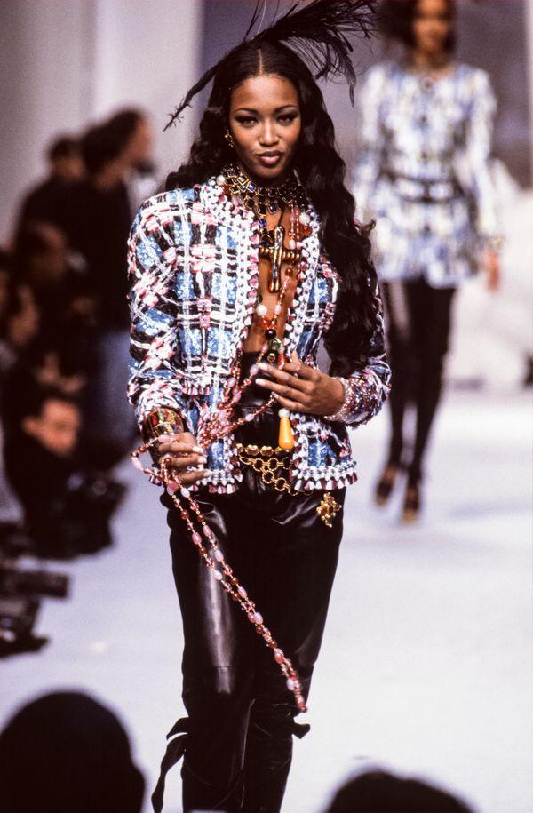 Walking the runwayat the Chanel Haute Couturespring/summer show during Paris Fashion Week.