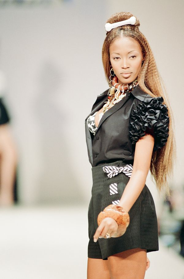 On the runway during London Fashion Week.