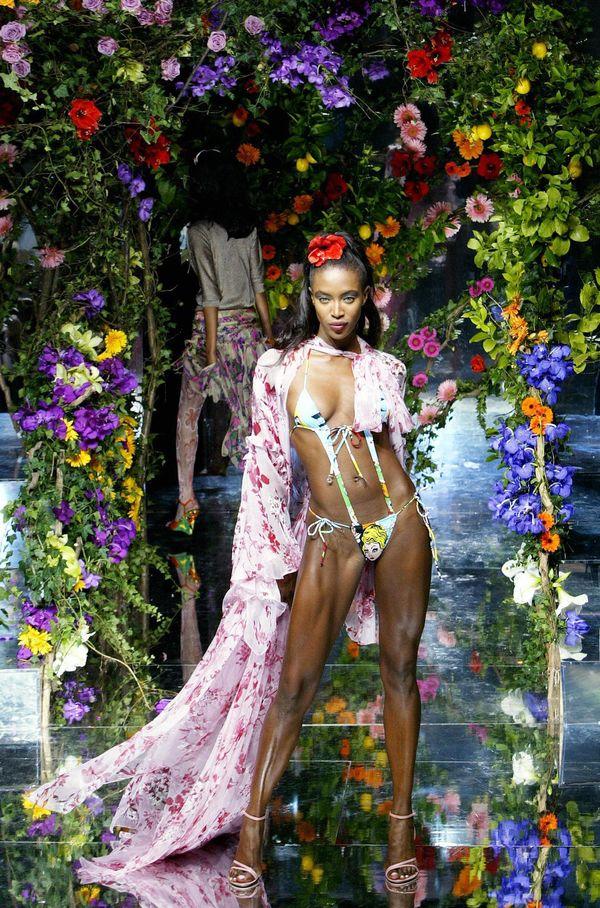 Walking the runway for Dolce & Gabbana during Milan Fashion Week.