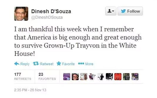 Dinesh D'Souza being racist.