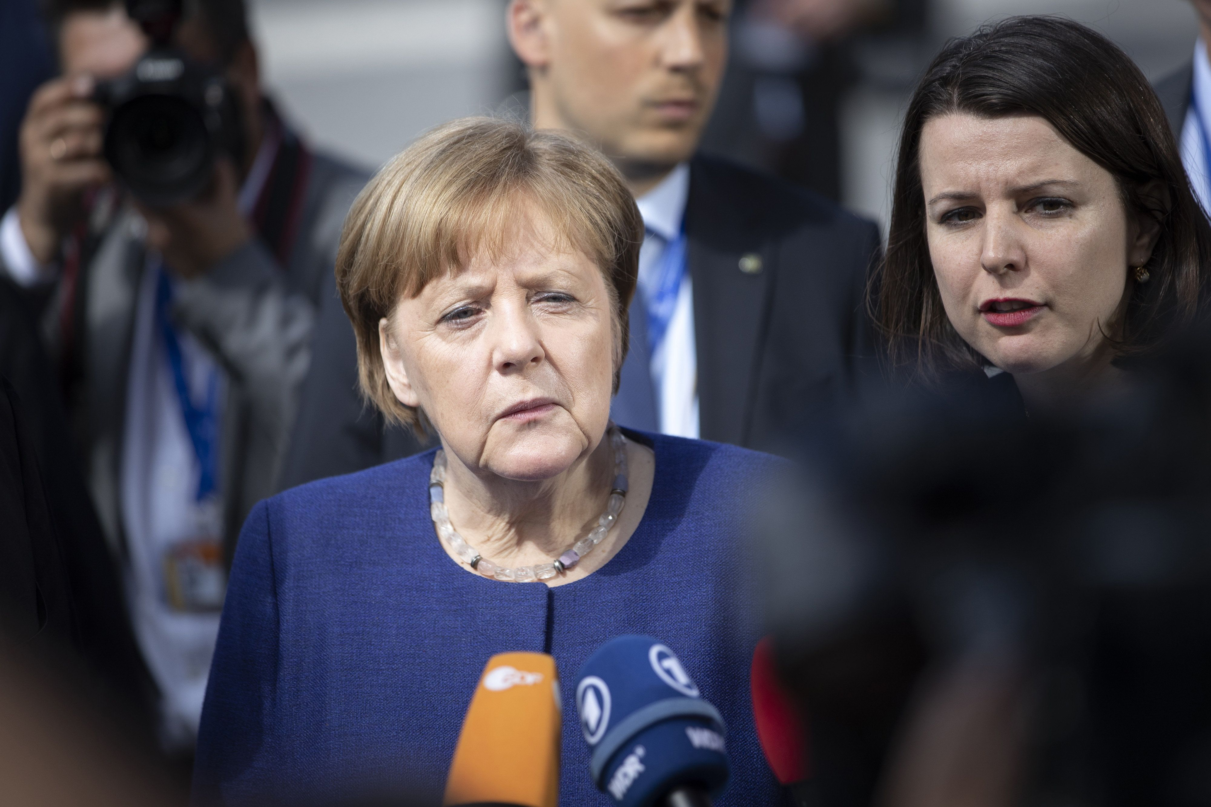Bloomberg via Getty Images                   Die deutsche Bundesregierung lehnt die US-Strafzölle