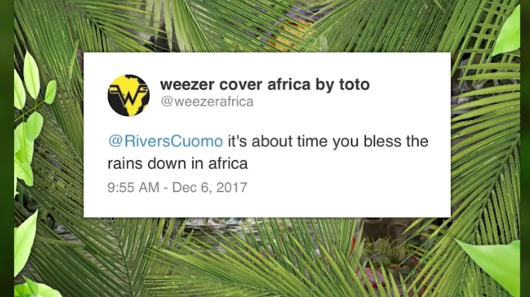 Weezer Finally Blesses The Internet With A Cover Of Toto's 'Africa