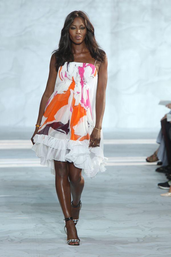 Walkingthe Diane Von Furstenberg show at Mercedes-Benz Fashion Week in New York.