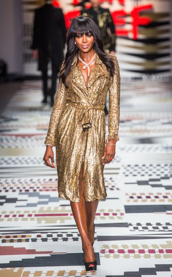 Walkingthe runway at the Fashion For Relief charity to kick off London Fashion Week.