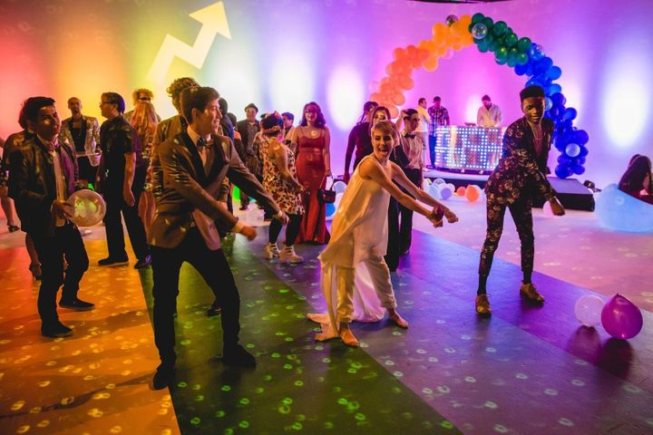 Teens dance at Queer Prom last year.