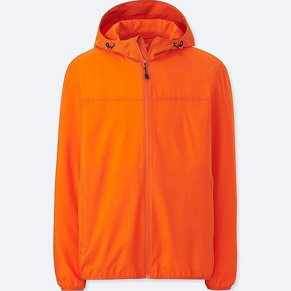 When dad's running out the door and needs something quick and light and easily washable, too, this parka comes in handy. Get