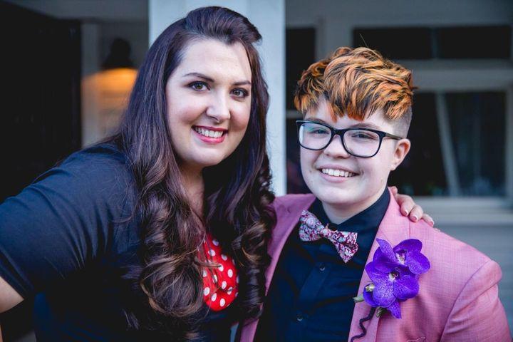 Rowan Berry (right) and date at last year's Queer Prom.