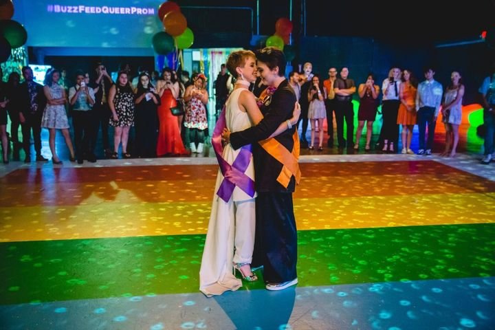A scene from the inaugural Queer Prom in Hollywood last year.