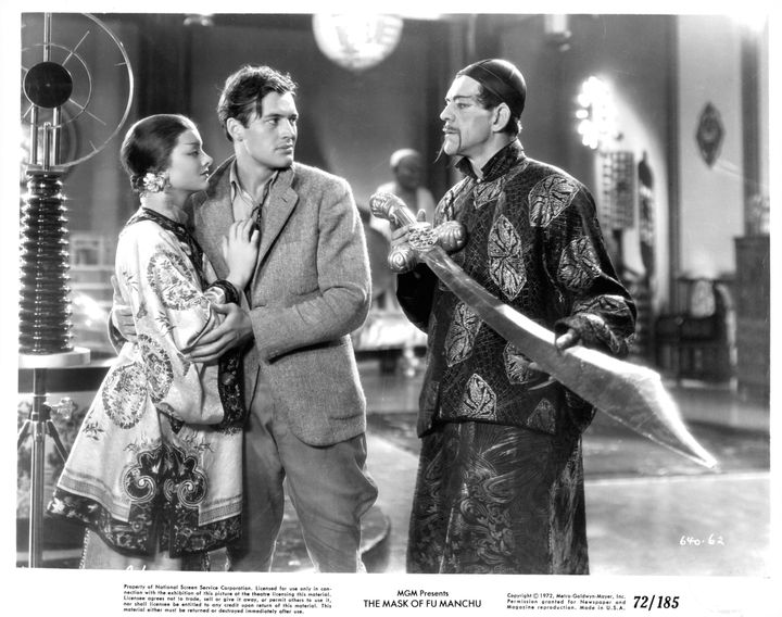 "Boris Karloff portrayed the threatening title character in 1932's ""The Mask of Fu Manchu."""
