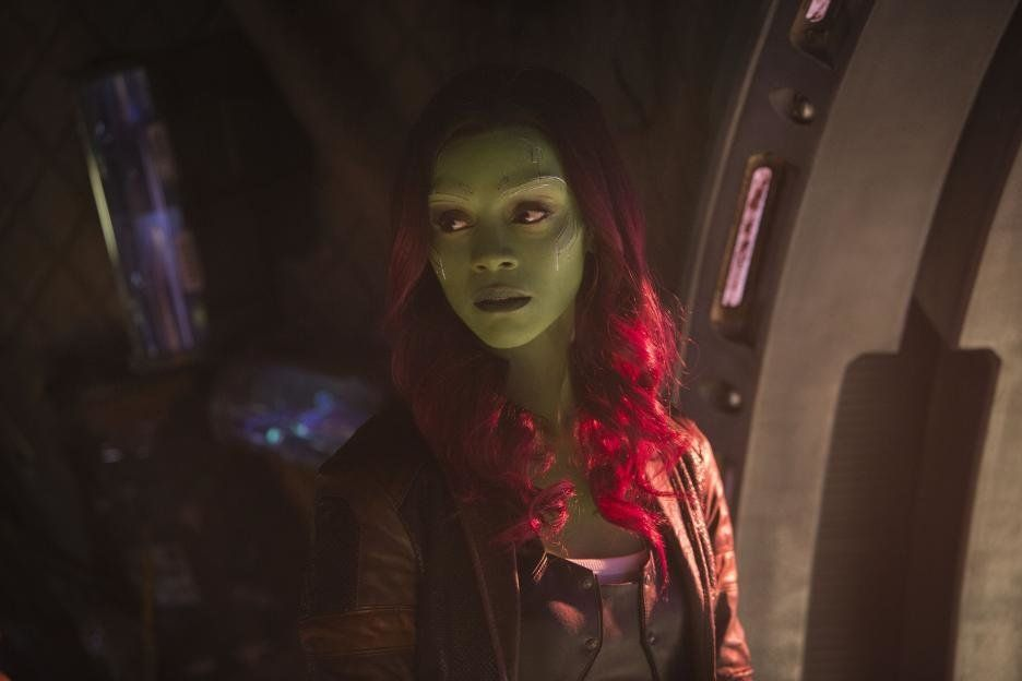"Gamora (Zoe Saldana) in ""Avengers: Infinity War."""