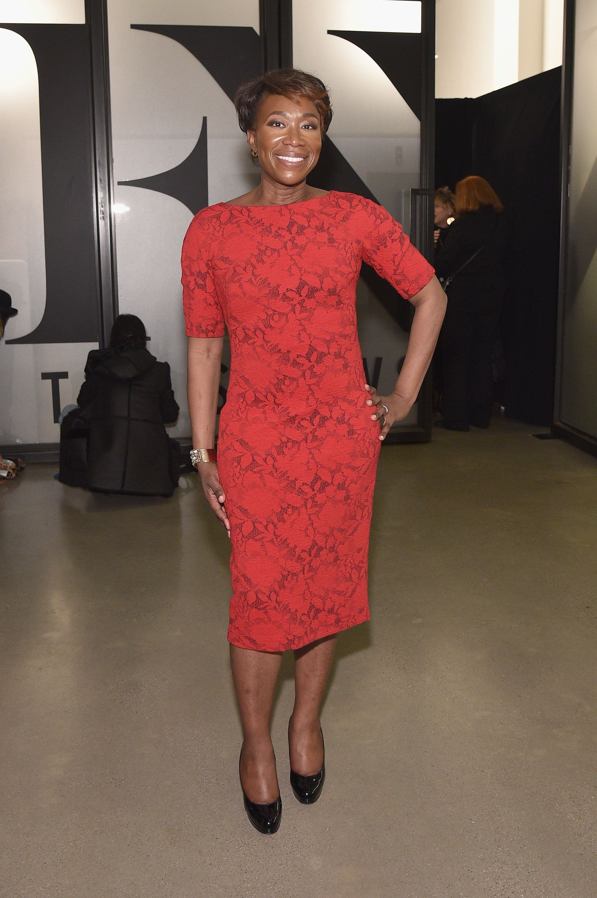 NEW YORK, NY - FEBRUARY 10:  Journalist Joy-Ann Reid poses during IMG NYFW: The Shows at Spring Studios on February 10, 2018 in New York City.  (Photo by Bryan Bedder/Getty Images for IMG)