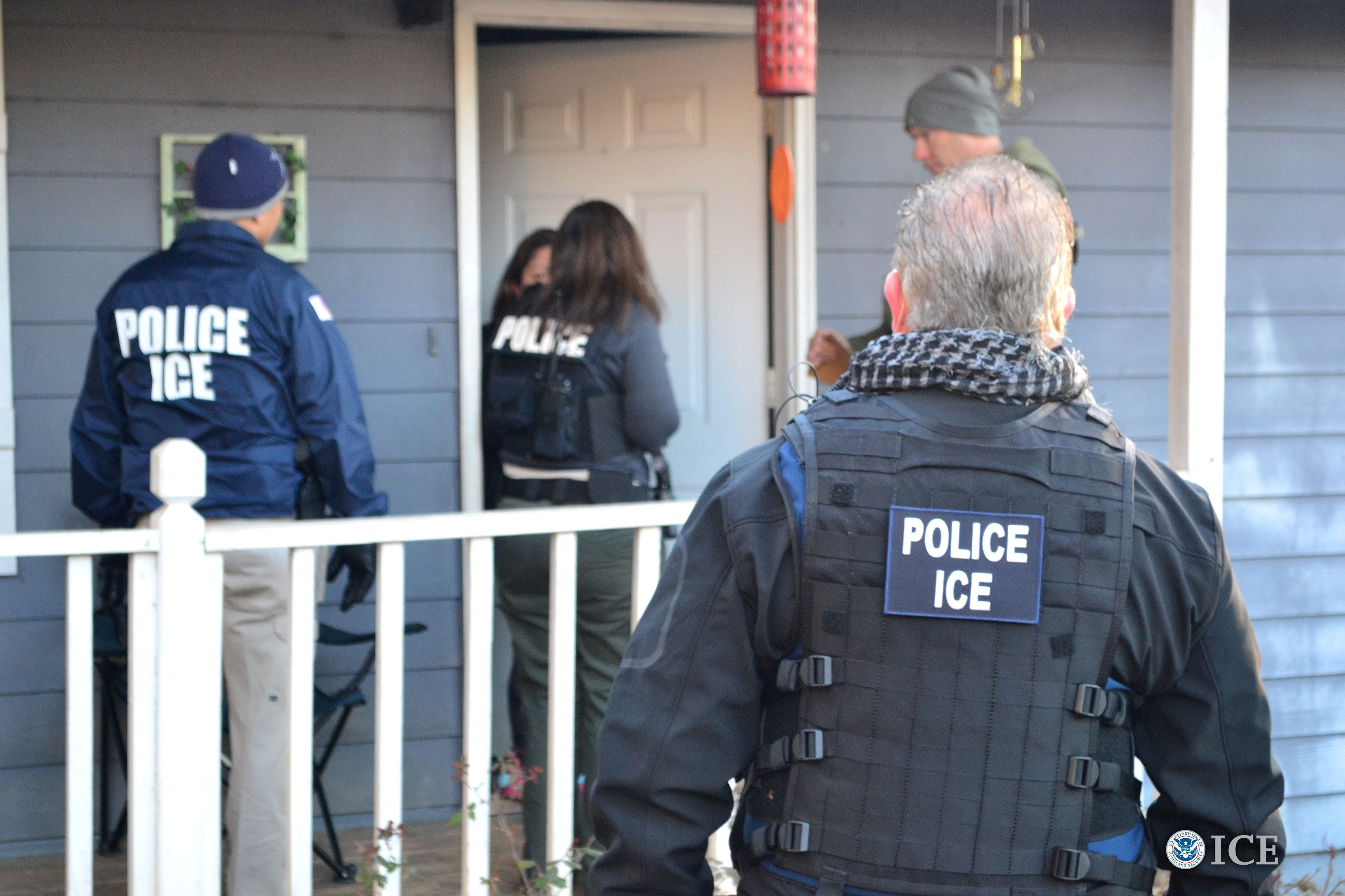 Immigration and Customs Enforcement officers conducting an operation last year. The circumstances surrounding Celestino