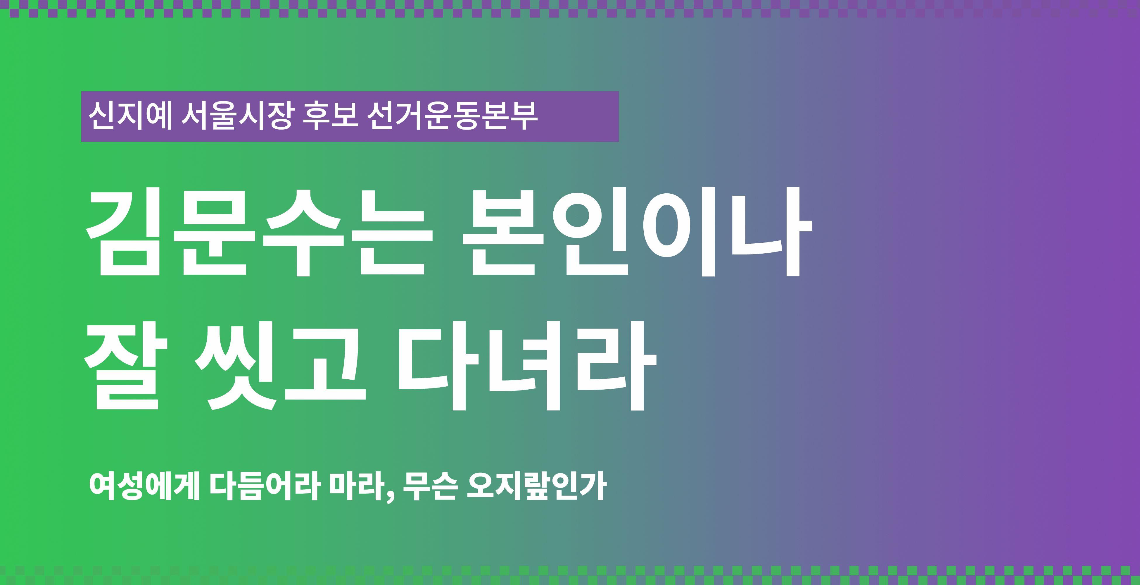 녹색당이 김문수