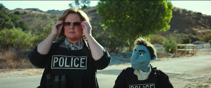 "A scene from ""The Happytime Murders."""