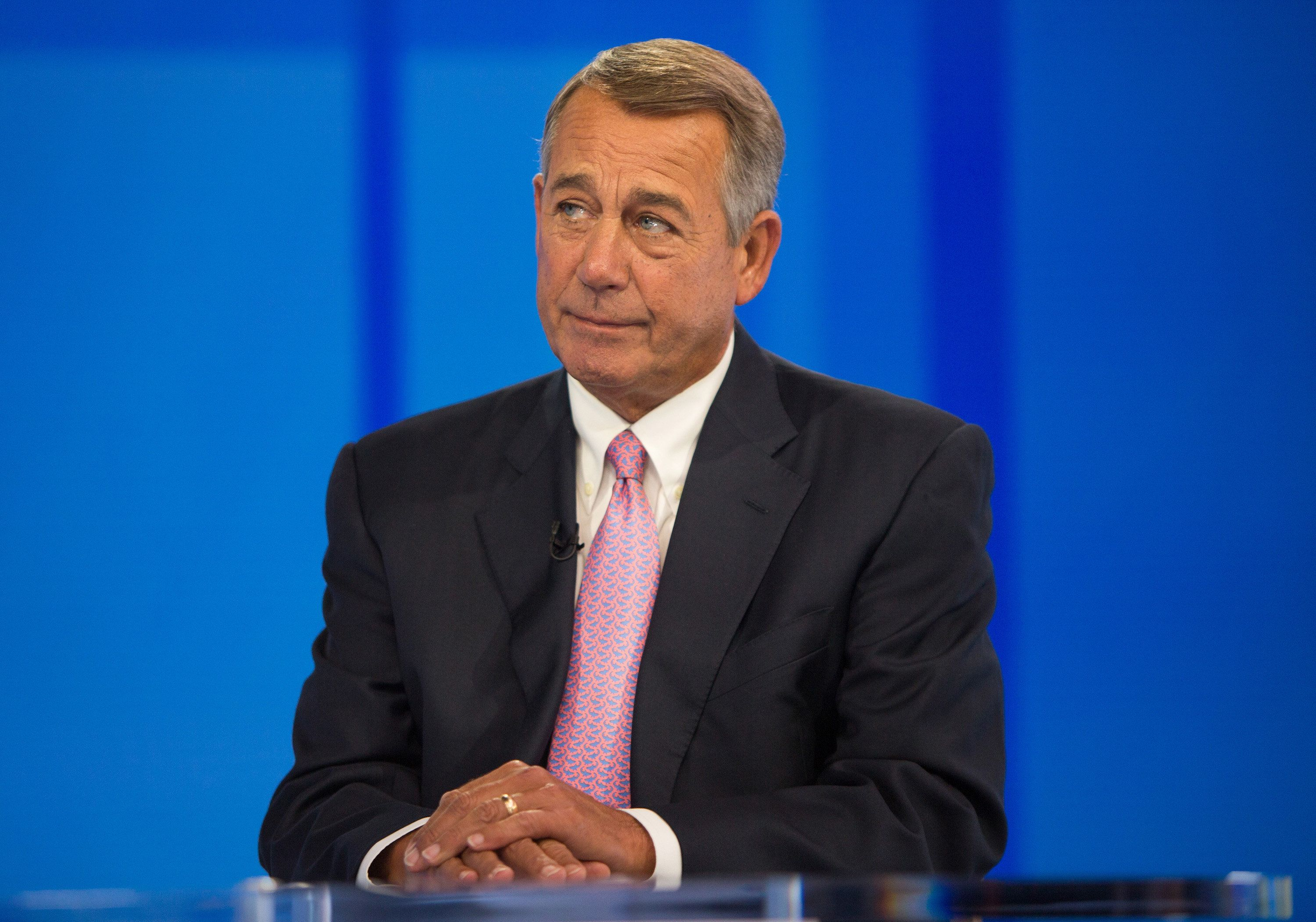 TODAY -- Pictured: John Boehner on Friday, April 13, 2018 -- (Photo by: Nathan Congleton/NBC/NBCU Photo Bank via Getty Images)