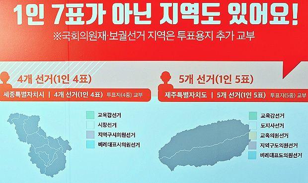 1인 7표가 아닌 지역 (자료 출처:
