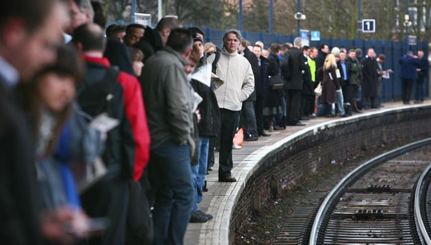 Stock image. Commuters face another day of train