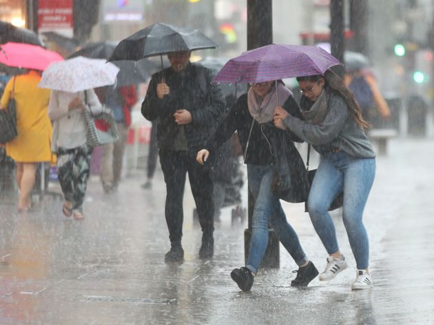UK Weather: Torrential Rain And Thunderstorms To Cause Travel