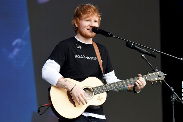 Ed Sheeran missed the ceremony as he's currently on