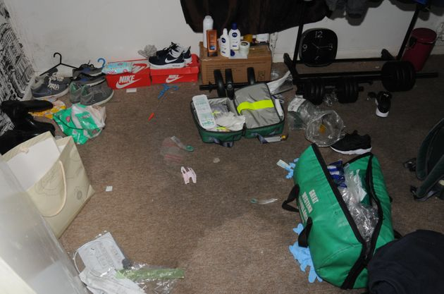 Gloucestershire Police of the interior of the Gloucester home of Alistair Walker and Hannah Henry following...