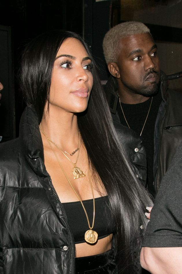 Kim and Kanye in New York last