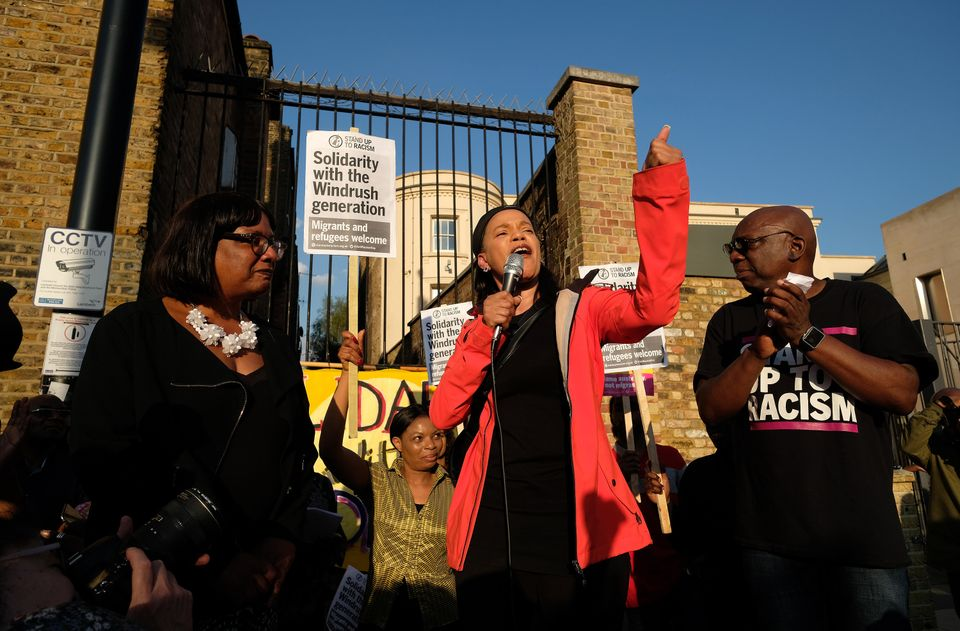 Claudia Webbe with Diane Abbott at a Windrush rally in