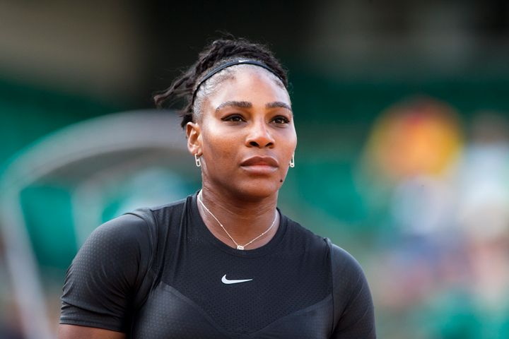 Williams playing at the French Open Tennis Tournament on May 31, 2018, in Paris, France.